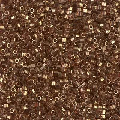 Miyuki Delica Seed Beads 5g 11/0  DBH0115 Hex TL Rose Gold