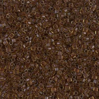 Miyuki Delica Seed Beads 5g 11/0  DBH1393 Hex ICL* Golden Brown/Chocolate