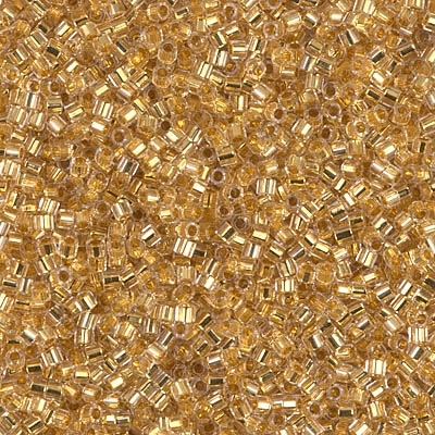 Miyuki Delica Seed Beads 1g DBH0033 HEX ICL Crystal/24 Kt Go