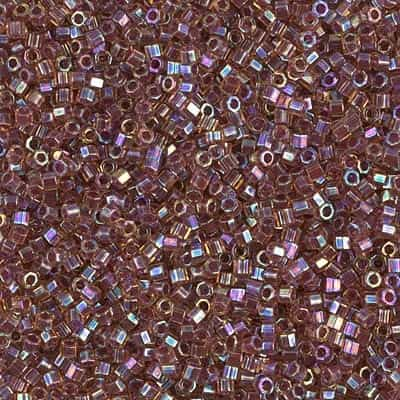 Miyuki Delica Seed Beads 5g 11/0  DBH0088 Hex TR Light Rose/Gold