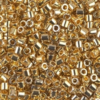 Miyuki Delica Seed Beads 8/0 1 Gram DBL0031 24 Kt Gold Plated