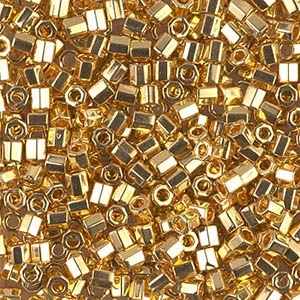 Miyuki Delica Seed Beads 8/0 DBLH0031 Hex 24 Kt Gold Plated 1g