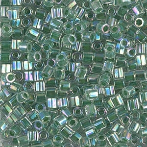 Miyuki Delica Seed Beads 8/0 DBLH0060 Hex ICL R Crystal/Light Green