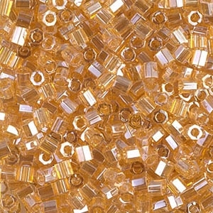Miyuki Delica Seed Beads 8/0 DBLH0099 Hex TL Pale Amber