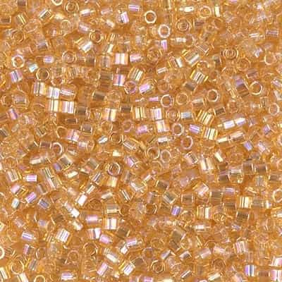 Miyuki Delica Seed Beads 5g DBMH0100 Hex TR Light Amber