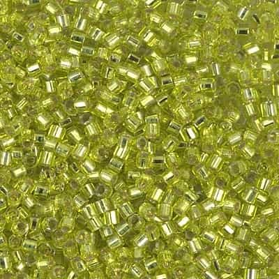 Miyuki Delica Seed Beads 5g DBMH0147 Hex TSL Chartreuse