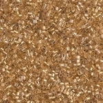 Miyuki Delica Seed Beads 15/0 1 Gram DBSH0033 Hex ICL Crystal/24 Karat Gold Plated