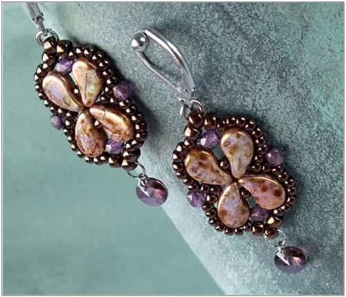 BeadSmith Exclusive Bead Store Patterns - Arabesque Earrings