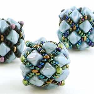 BeadSmith Digital Download Patterns - Argyle Beaded Bead
