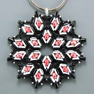 BeadSmith Digital Download Patterns - Cherry and Licorice Pendant