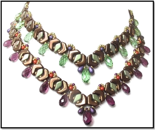 BeadSmith Digital Download Patterns - ChevronDuo Duet Necklace