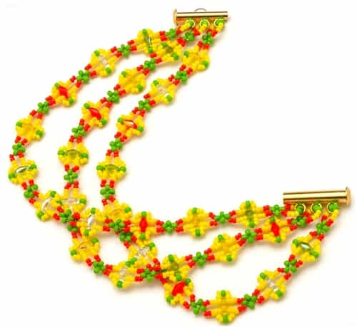 BeadSmith Digital Download Patterns - Citrus Infusion Bracelet