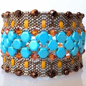 BeadSmith Exclusive Bead Store Patterns - Cobble Tiles Bracelet