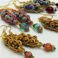 BeadSmith Digital Download Patterns - Cobblestone Earrings