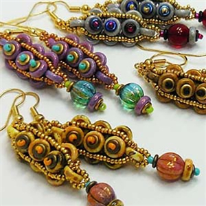 BeadSmith Exclusive Bead Store Patterns - Cobblestone Earrings