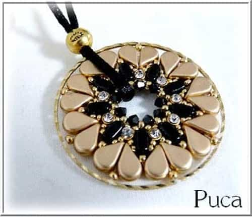 BeadSmith Exclusive Bead Store Patterns - Coeur Pendant