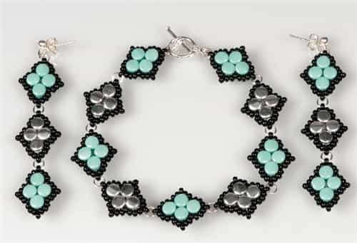 BeadSmith Exclusive Bead Store Patterns - Diamond Pellet Bracelet
