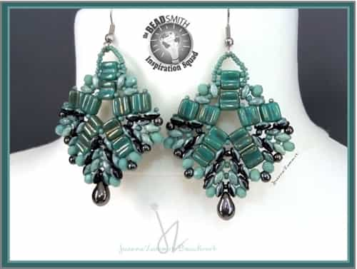 BeadSmith Exclusive Bead Store Patterns - Duets & Groovies Earrings