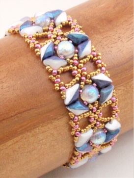 BeadSmith Digital Download Pattern - Echoes of Erte Bracelet