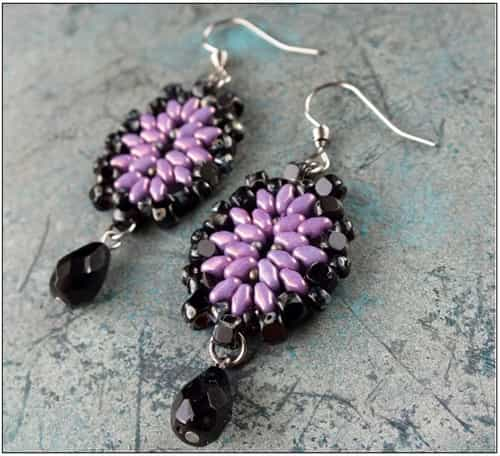 BeadSmith Exclusive Bead Store Patterns - Fabrizia Earrings
