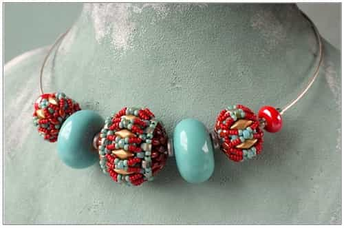 BeadSmith Exclusive Bead Store Patterns - Fiona Beaded Bead