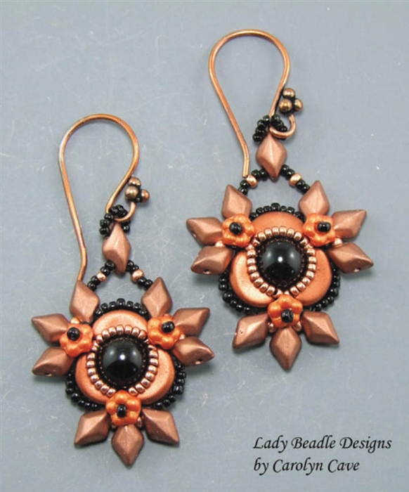 BeadSmith Digital Download Patterns - Firethorn Earrings