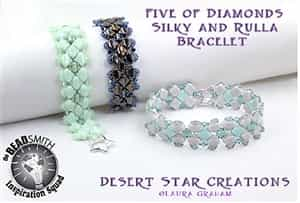 BeadSmith Exclusive Bead Store Patterns - Five of Diamonds Bracelet