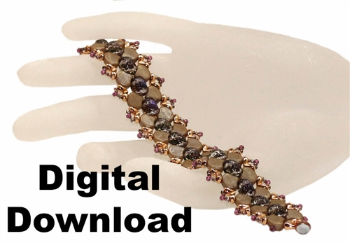 BeadSmith Digital Download Patterns - Ginko Bridges Bracelet