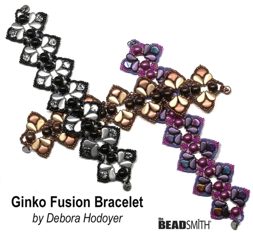 BeadSmith Digital Download Patterns - Ginko Fusion Bracelet