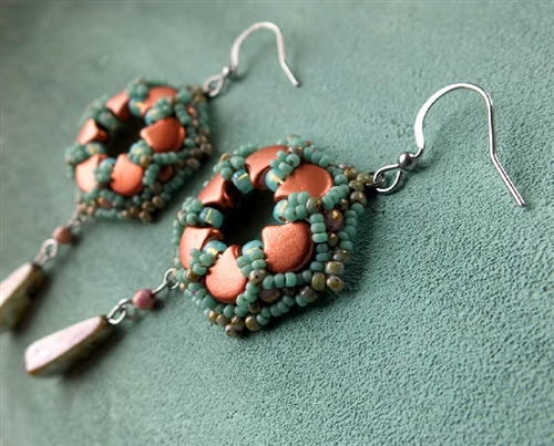 BeadSmith Digital Download Patterns - Ginko Lace Earrings