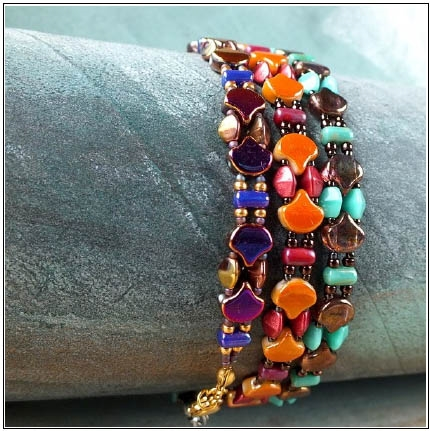 BeadSmith Digital Download Patterns - Ginko Wrap Bracelet