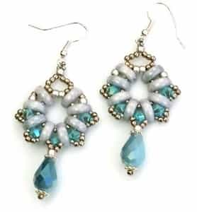 BeadSmith Exclusive Bead Store Patterns - Half Moon Earrings