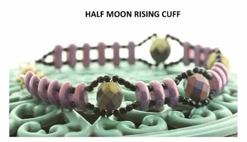 BeadSmith Digital Download Patterns - Half Moon Rising Cuff
