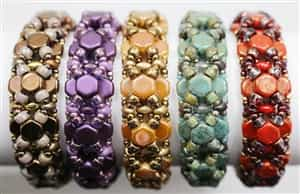 BeadSmith Exclusive Bead Store Patterns - Honeycomb Bangle Bracelet