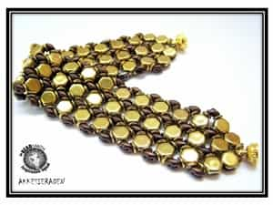 BeadSmith Exclusive Bead Store Patterns - Honeycomb Bracelet