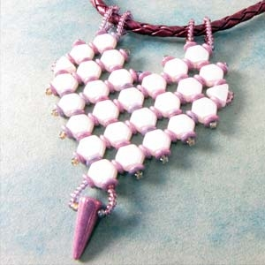 BeadSmith Digital Download Patterns - Honeycomb Heart Pendant