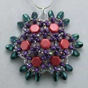 BeadSmith Exclusive Bead Store Patterns - Honeycomb Pendant