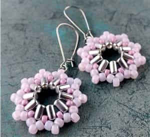 BeadSmith Exclusive Bead Store Patterns - Inti Earrings