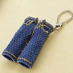 BeadSmith Digital Download Patterns - Jeans Charm