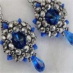 BeadSmith Exclusive Bead Store Patterns - Jenny Earrings