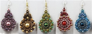 BeadSmith Exclusive Bead Store Patterns - Kashmir Earrings
