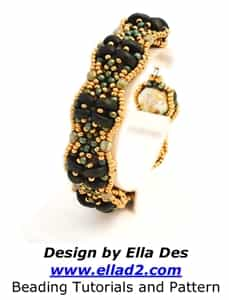BeadSmith Exclusive Bead Store Patterns - Lunetta Cuff