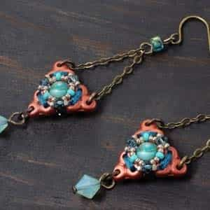 BeadSmith Exclusive Bead Store Patterns - Mandala Earrings