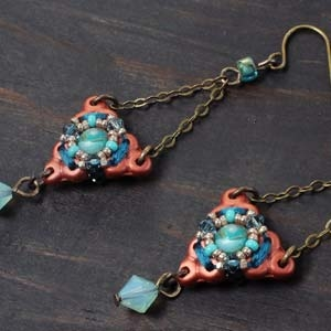 BeadSmith Digital Download Patterns - Mandala Earrings
