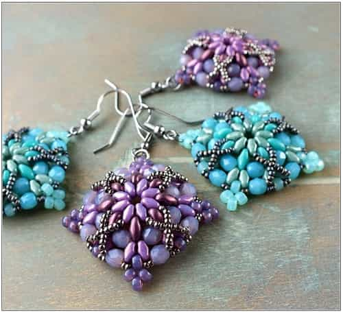 BeadSmith Exclusive Bead Store Patterns - Morrigan Earrings