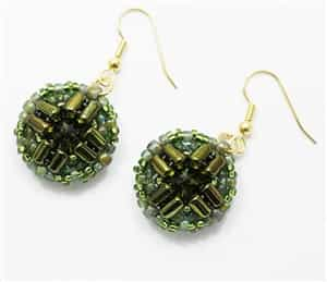 BeadSmith Exclusive Bead Store Patterns - Mosaic Earrings