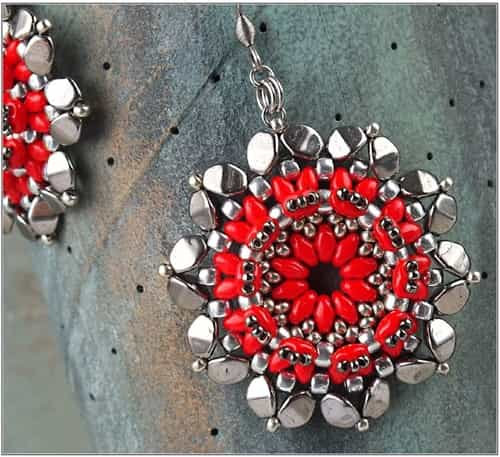 BeadSmith Exclusive Bead Store Patterns - Nardo Earrings