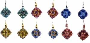 BeadSmith Exclusive Bead Store Patterns - Nib-Bit Timbuktu Earrings