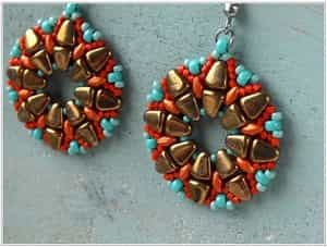 BeadSmith Exclusive Bead Store Patterns - Nib-BIt Viracocha Earrings