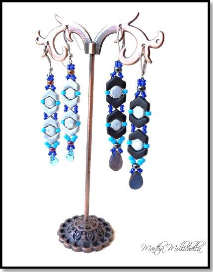 BeadSmith Digital Download Patterns - Orecchini ChevronDuo Earrings